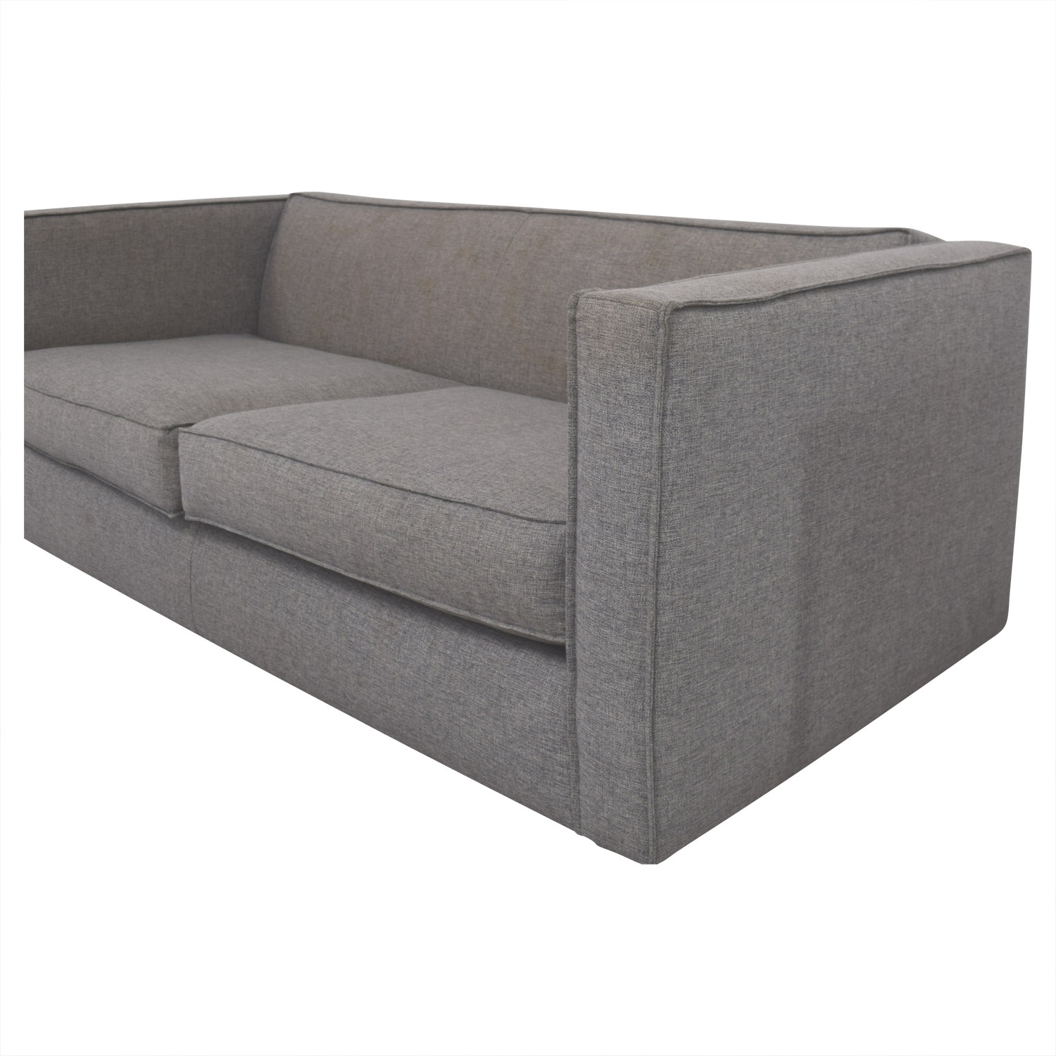 CB2 CB2 Club Grey Two-Cushion Sofa second hand