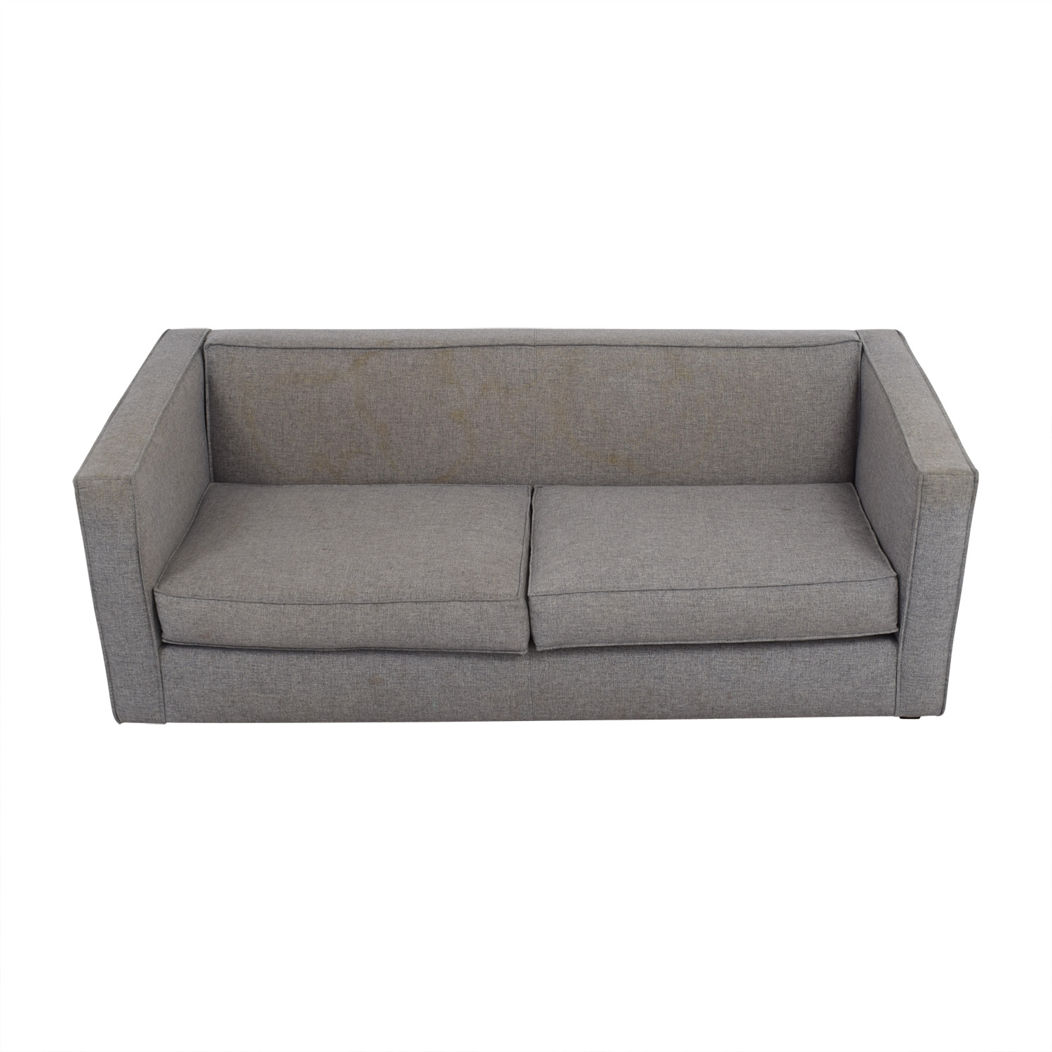 buy CB2 Club Grey Two-Cushion Sofa CB2