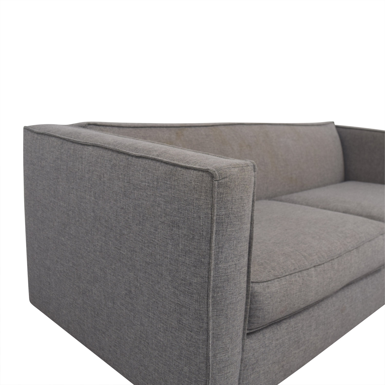 CB2 CB2 Club Grey Two-Cushion Sofa nyc