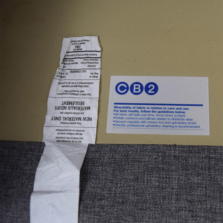 shop CB2 Club Grey Two-Cushion Sofa CB2 Classic Sofas
