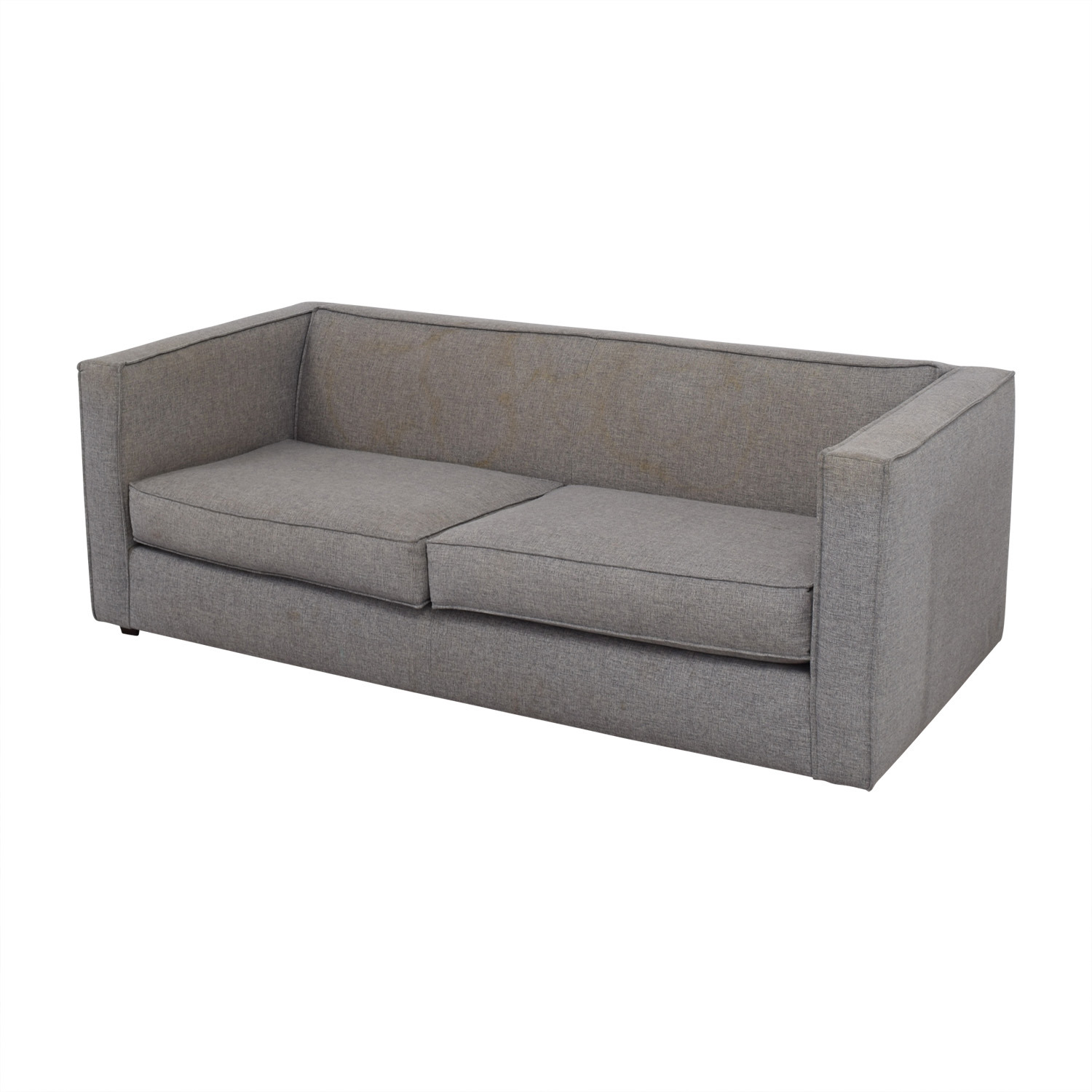 CB2 CB2 Club Grey Two-Cushion Sofa Sofas