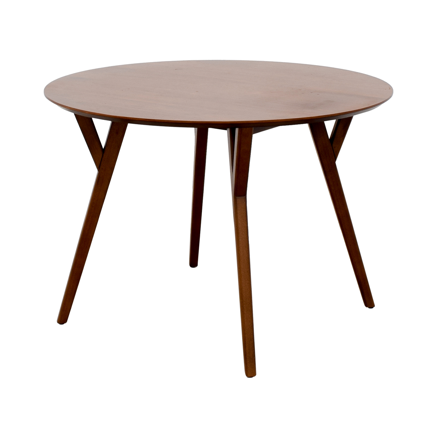 West Elm West Elm Round Wood Dining Table for sale