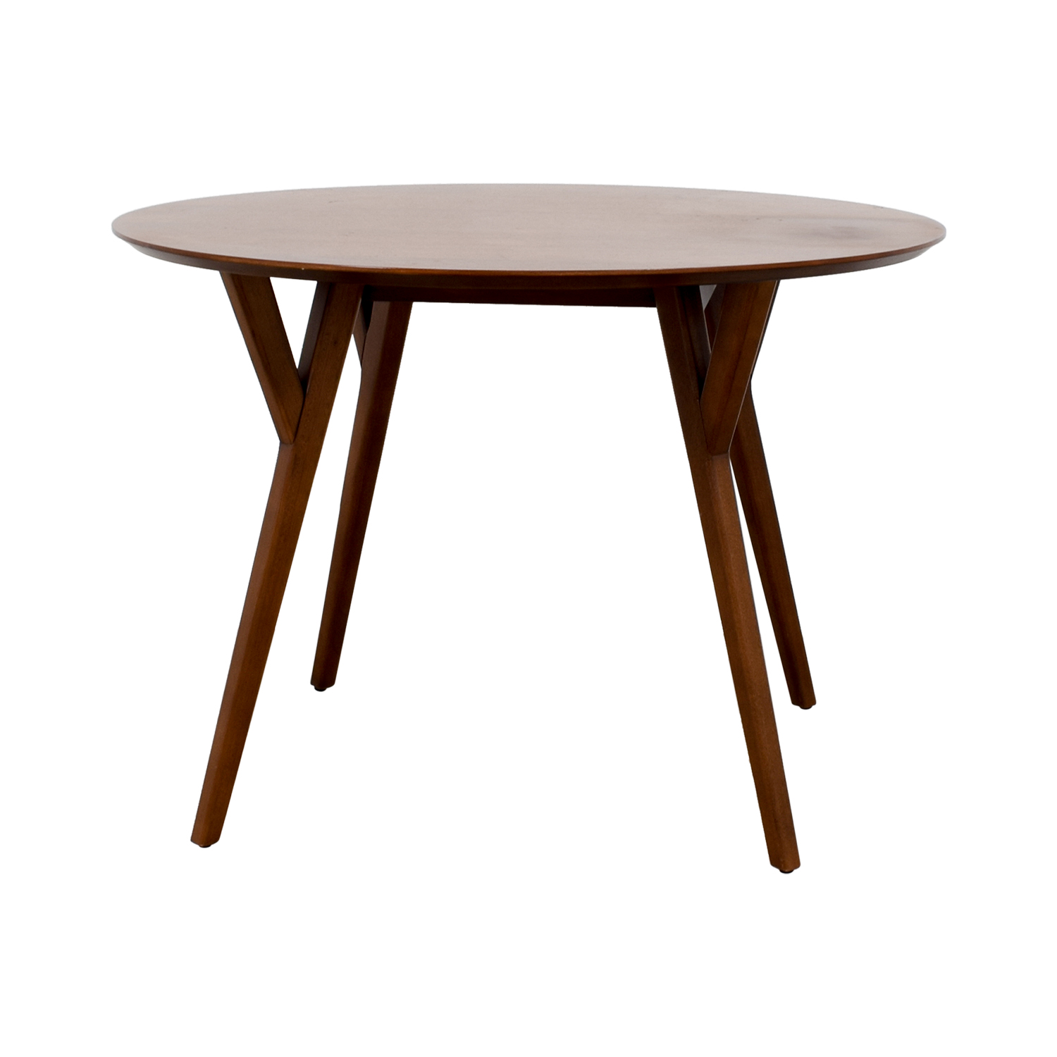 3% OFF - West Elm West Elm Round Wood Dining Table / Tables