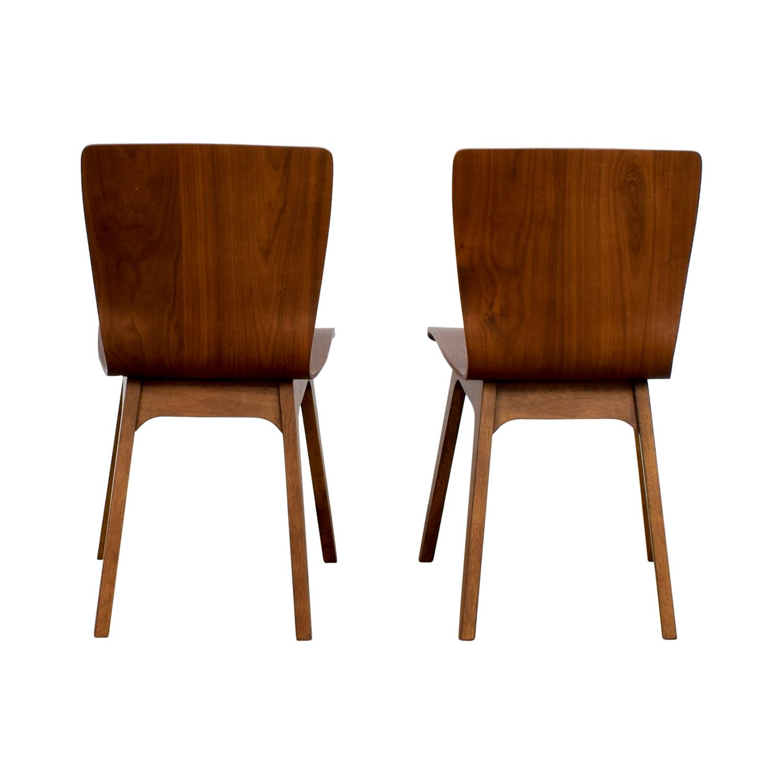 shop West Elm Crest Brentwood Chairs West Elm