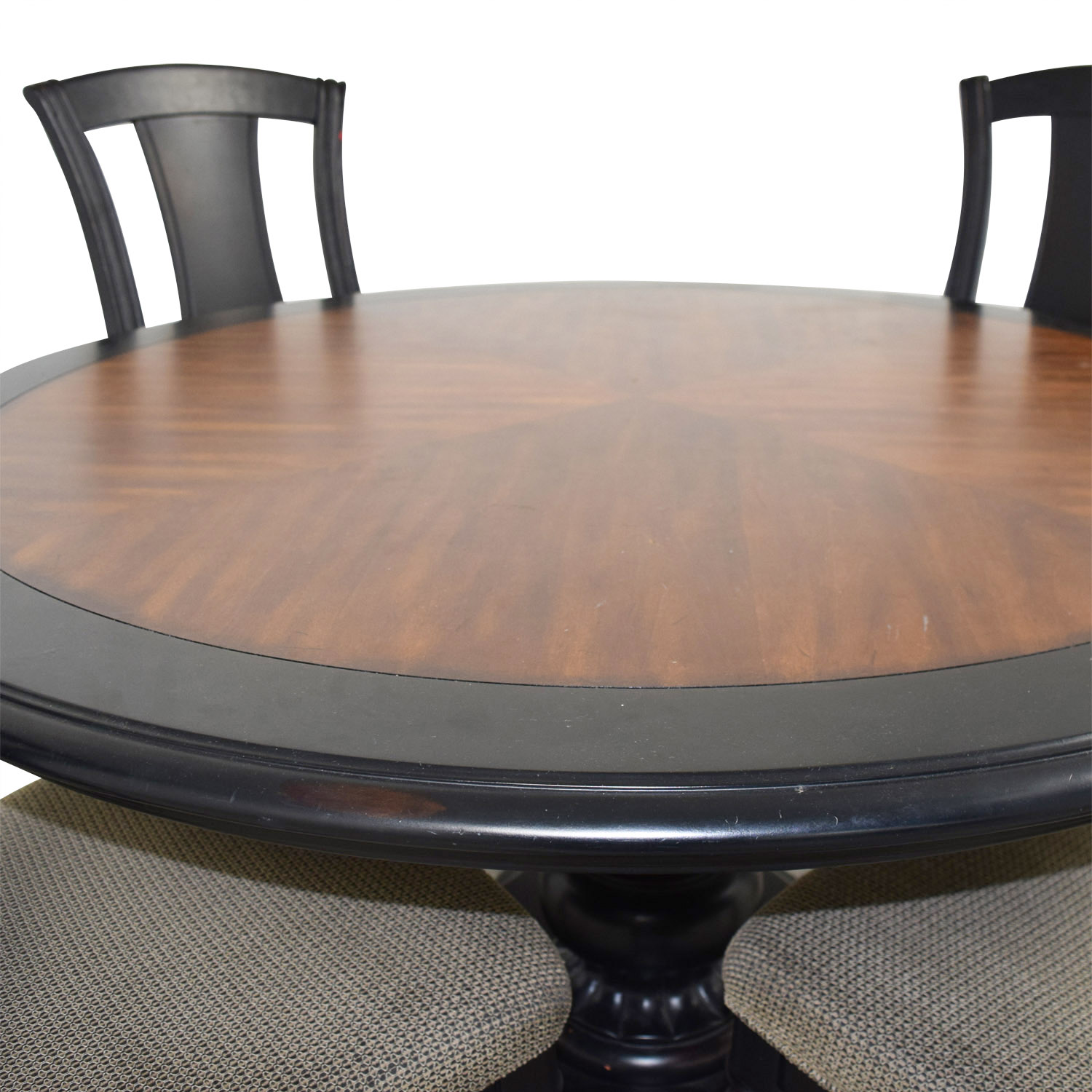 Admirable 90 Off Two Toned Wood Round Dining Set Tables Home Remodeling Inspirations Genioncuboardxyz