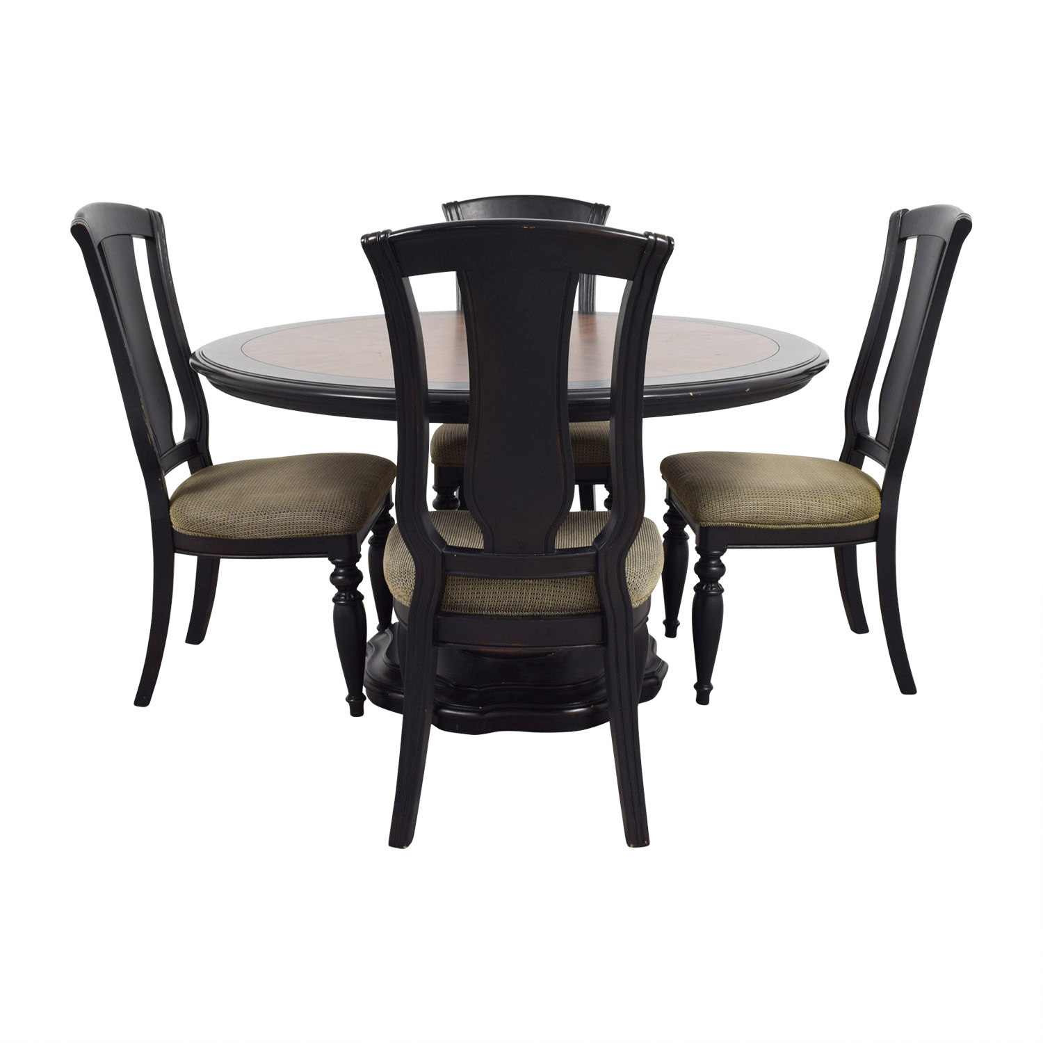 Two Toned Wood Round Dining Set / Dining Sets
