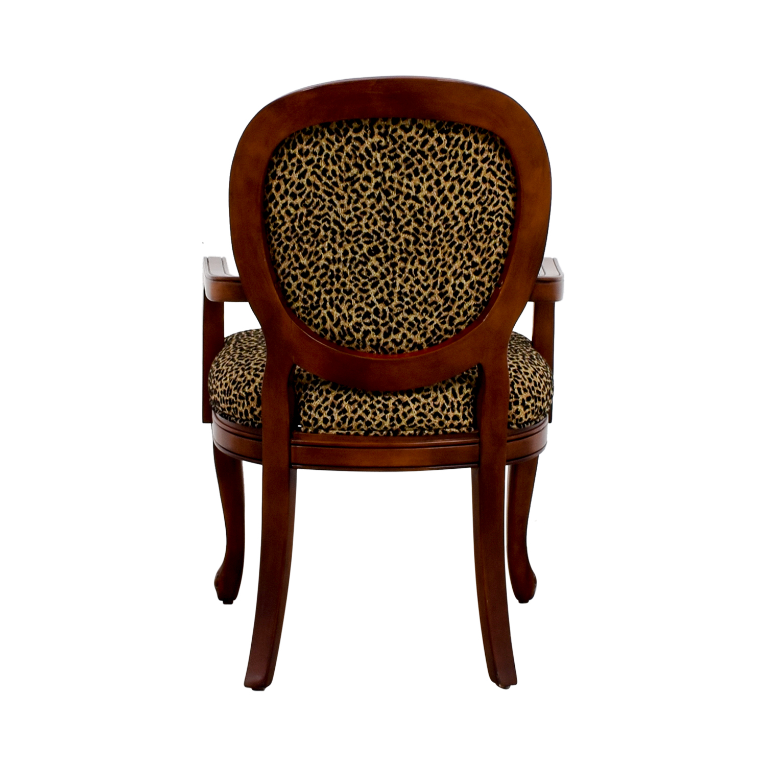 buy Leopard Upholstered Wood Arm Chair