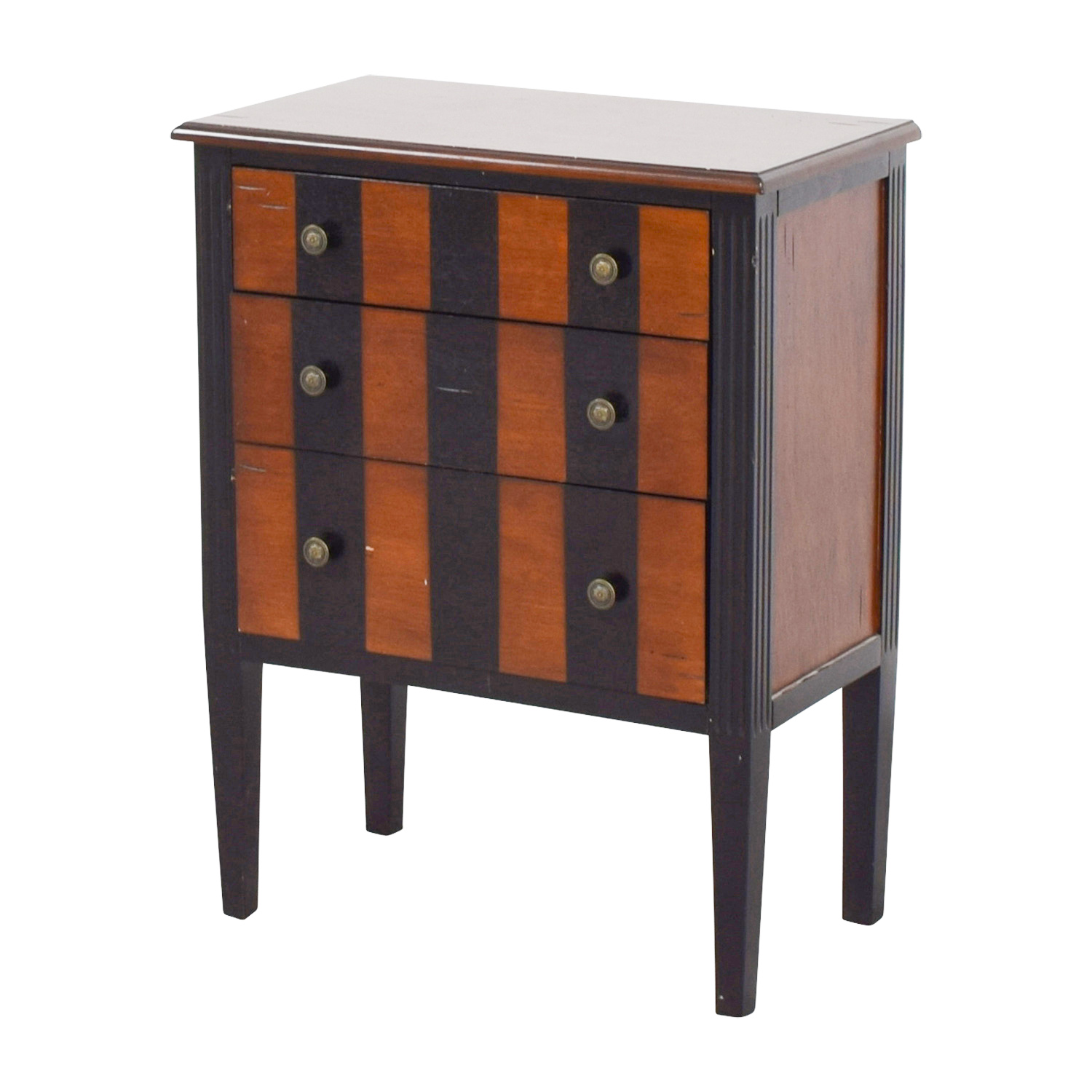 63 off pier 1 imports pier 1 imports striped side table. Black Bedroom Furniture Sets. Home Design Ideas