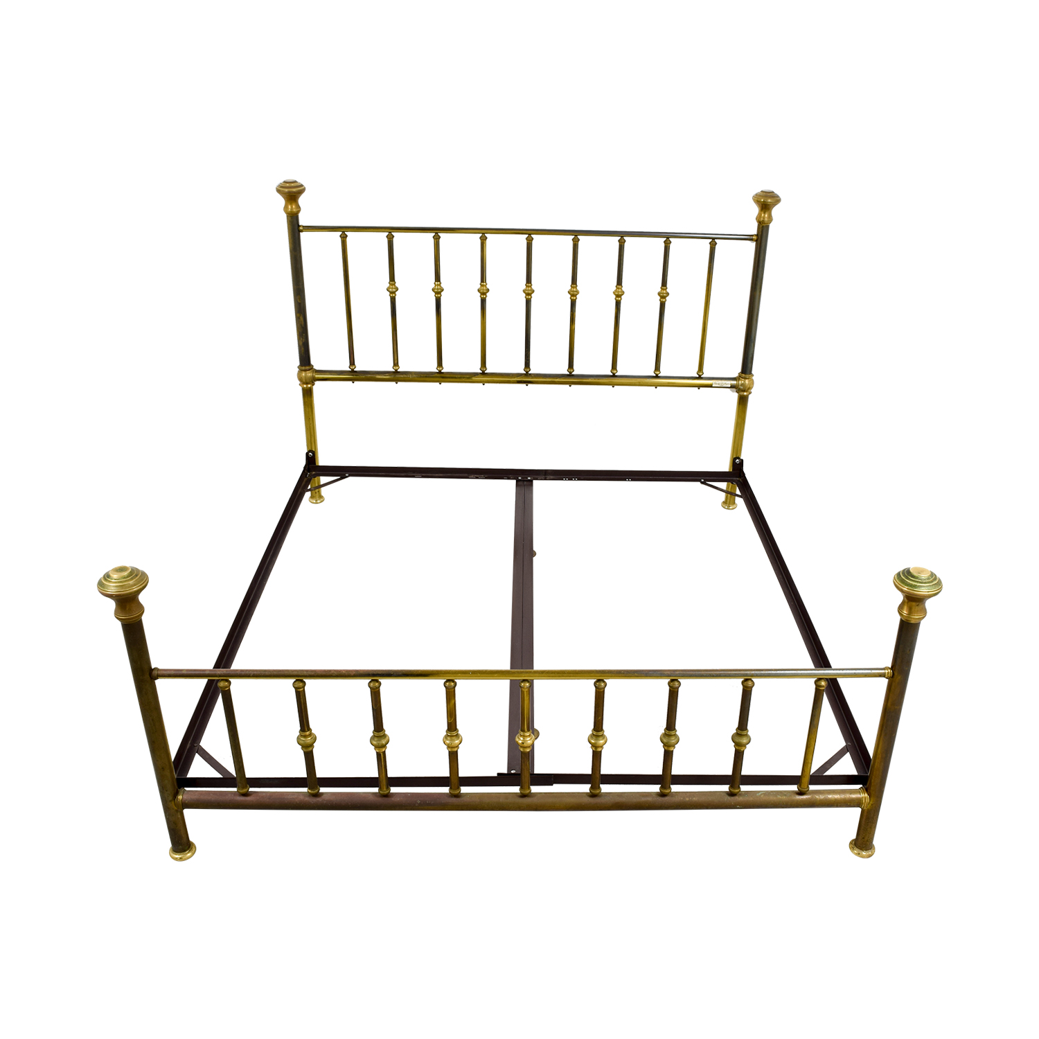 shop Charles P. Rodgers Charles P. Rodgers Putnam King Brass Bed Frame online
