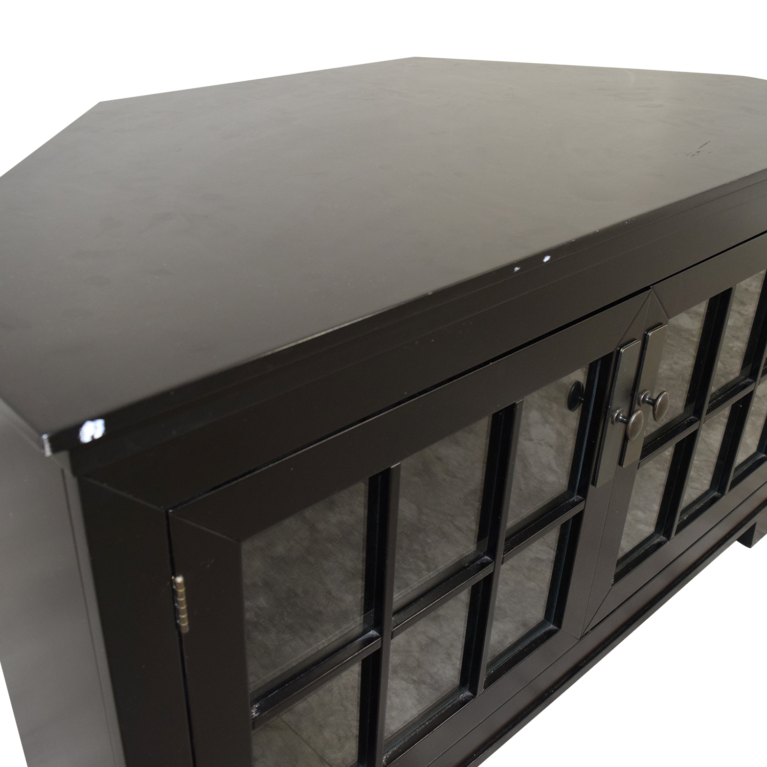 buy Crate & Barrel Wood and Glass Media Console Crate & Barrel Storage