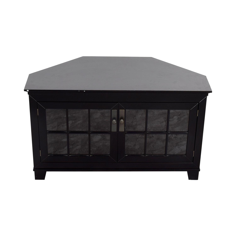 Crate & Barrel Crate & Barrel Wood and Glass Media Console