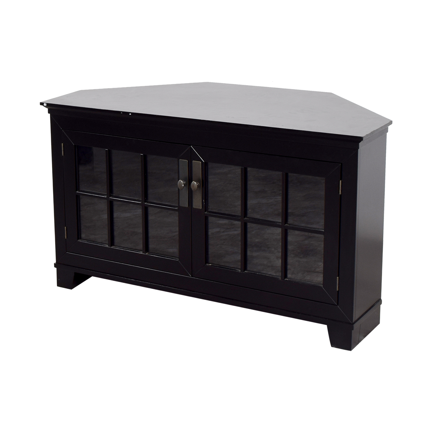 buy Crate & Barrel Crate & Barrel Wood and Glass Media Console online