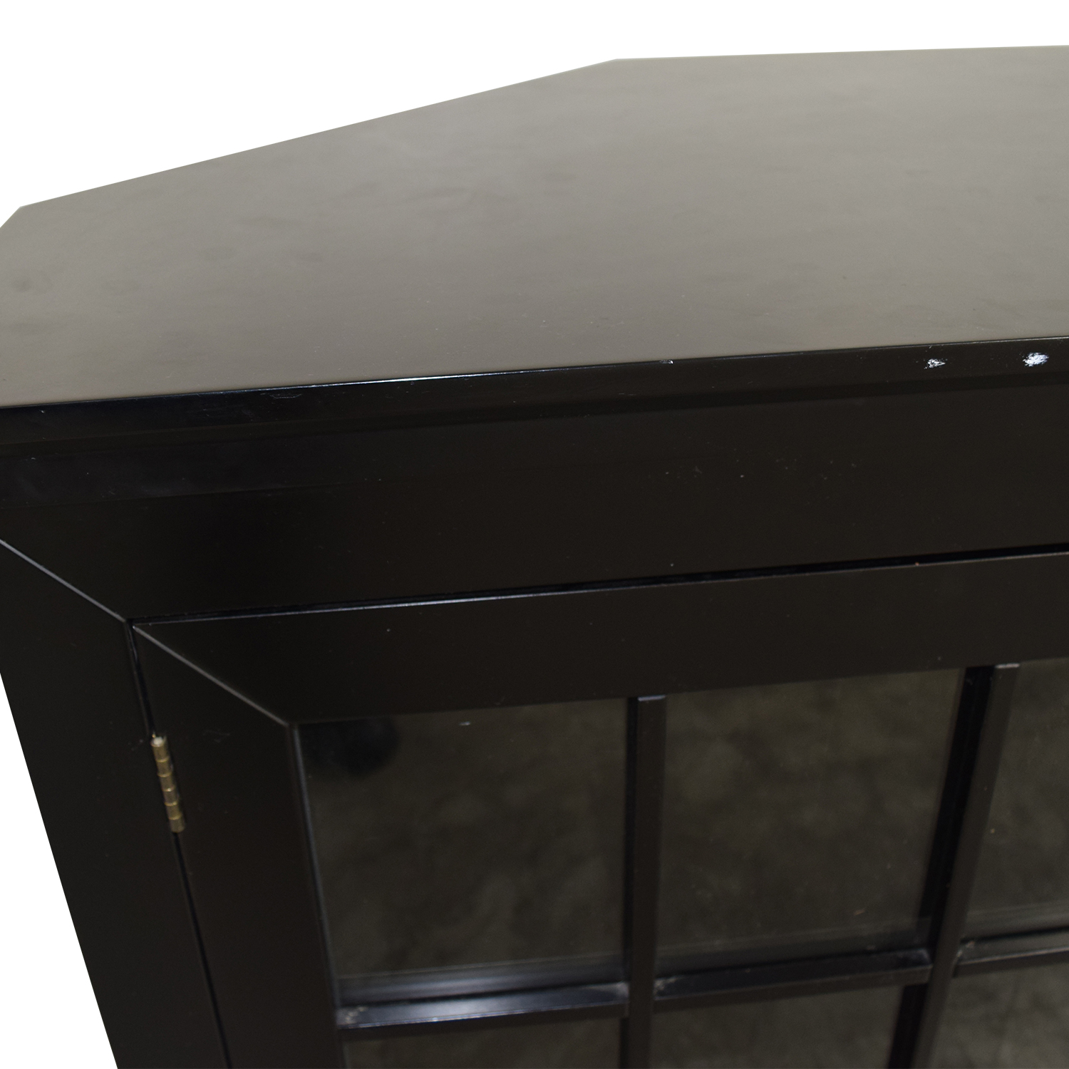 Crate & Barrel Crate & Barrel Wood and Glass Media Console for sale