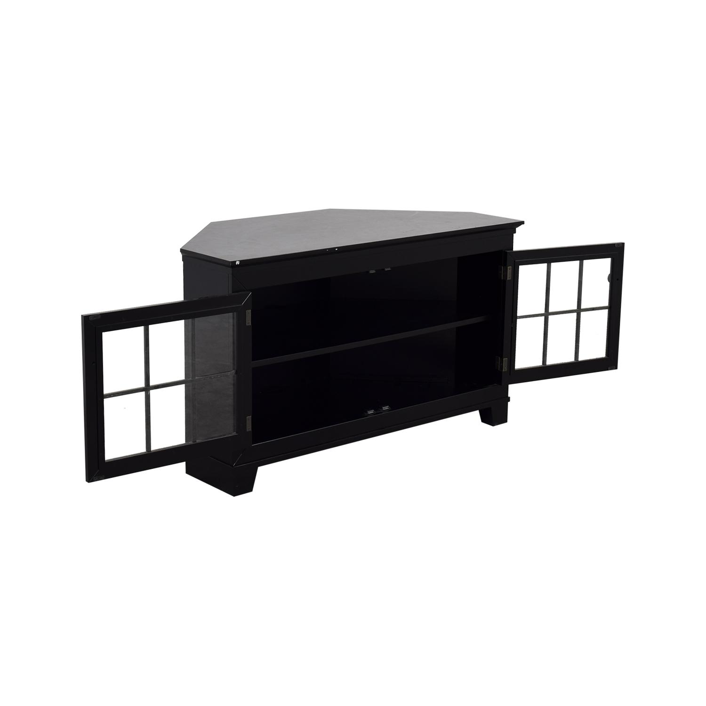 buy Crate & Barrel Wood and Glass Media Console Crate & Barrel Media Units