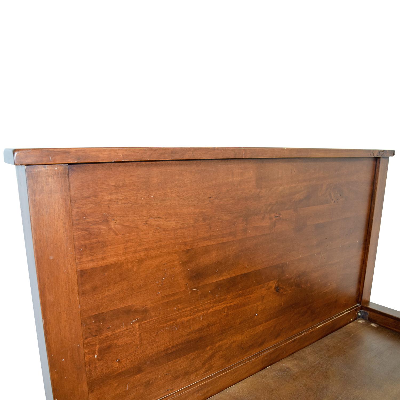 Dark Wooden Queen Platform Bedframe BROWN