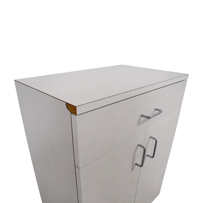 Custom Wisomart Laminate One Drawer White Cabinet price