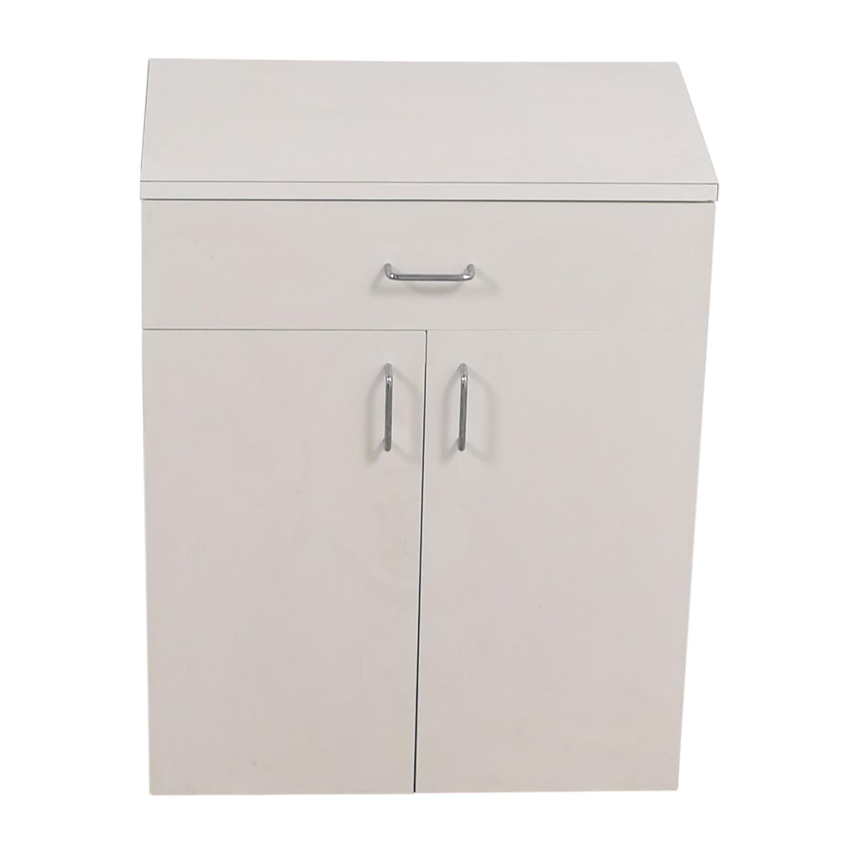 Custom Wisomart Laminate One Drawer White Cabinet