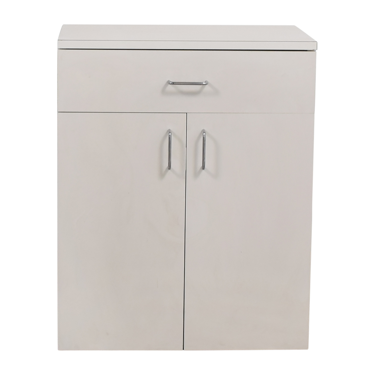 Custom Wisomart Laminate One Drawer White Cabinet WHITE