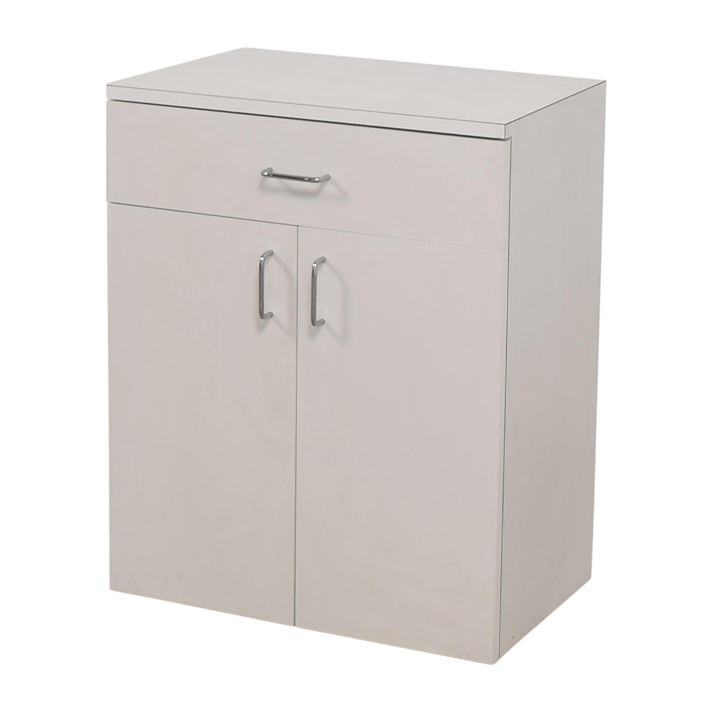 buy Custom Wisomart Laminate One Drawer White Cabinet