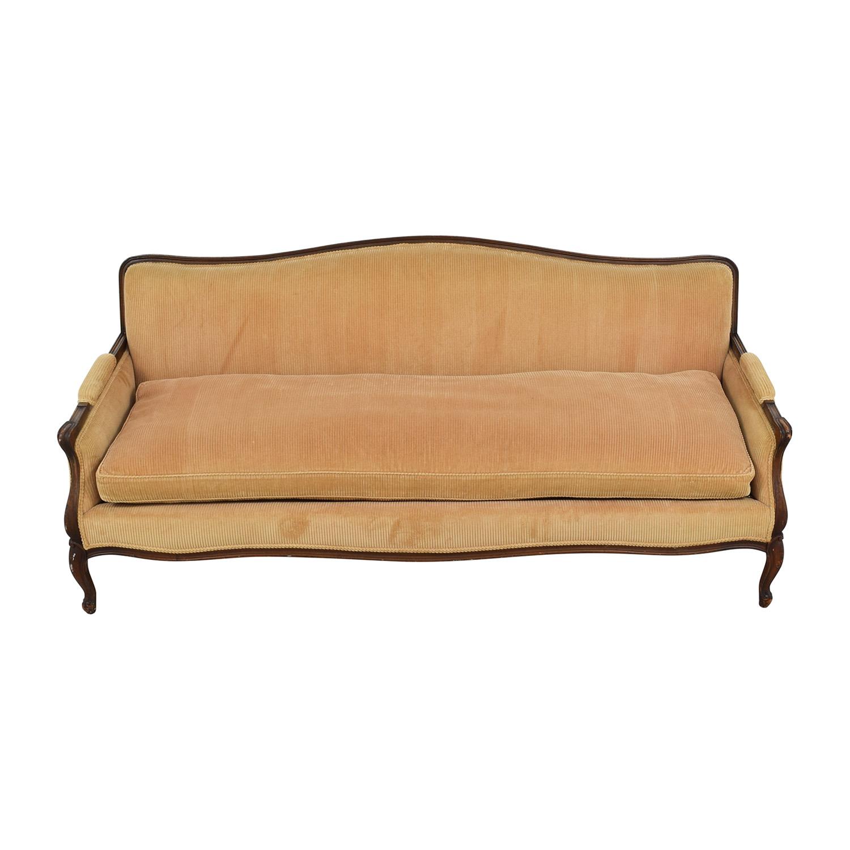 Indigo Yellow Single Cushion Couch Classic Sofas