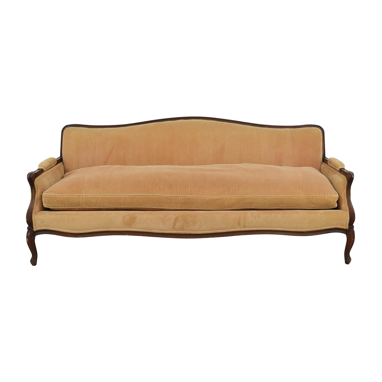 Indigo Yellow Single Cushion Couch second hand