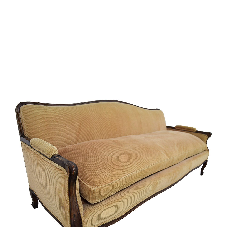 shop Indigo Yellow Single Cushion Couch