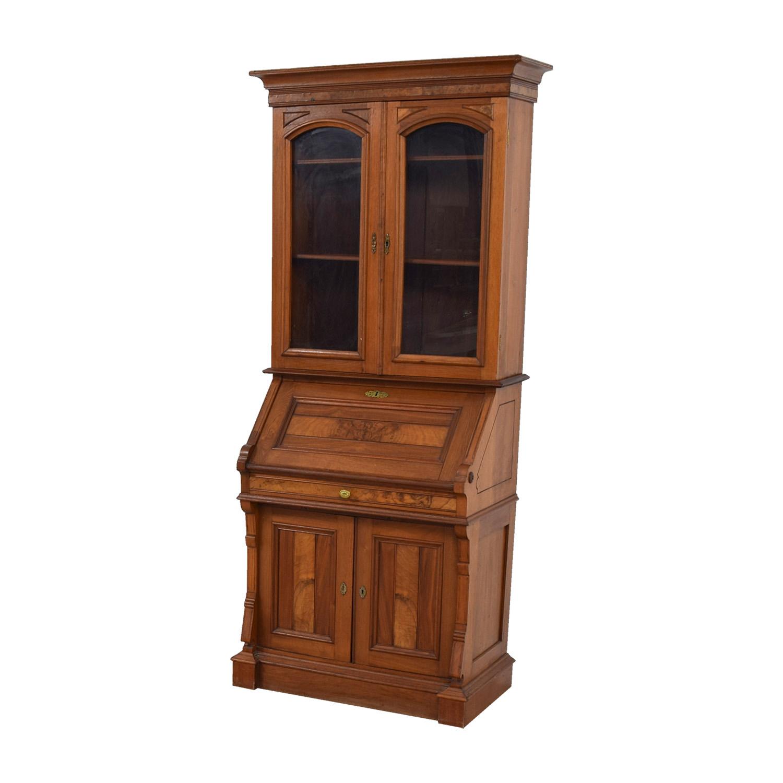 shop Antique Inlaid Pine Secretary Bookcases & Shelving