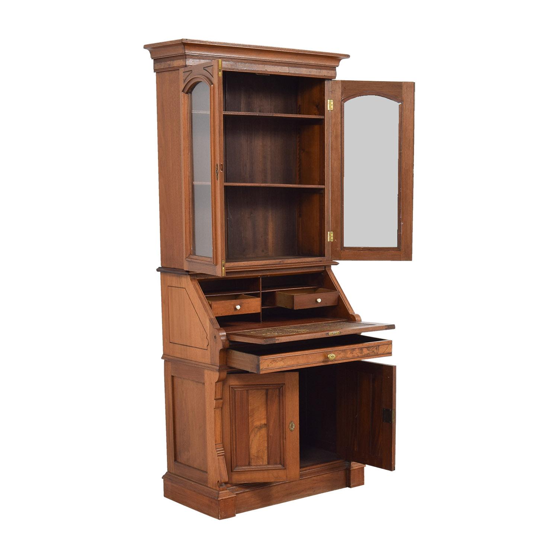 Antique Inlaid Pine Secretary dimensions