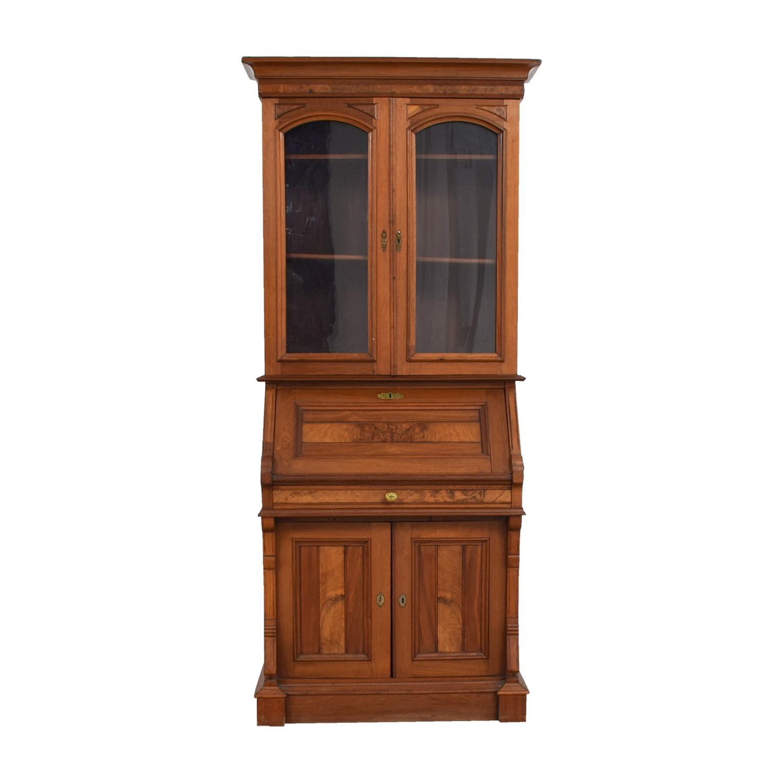 buy Antique Inlaid Pine Secretary online