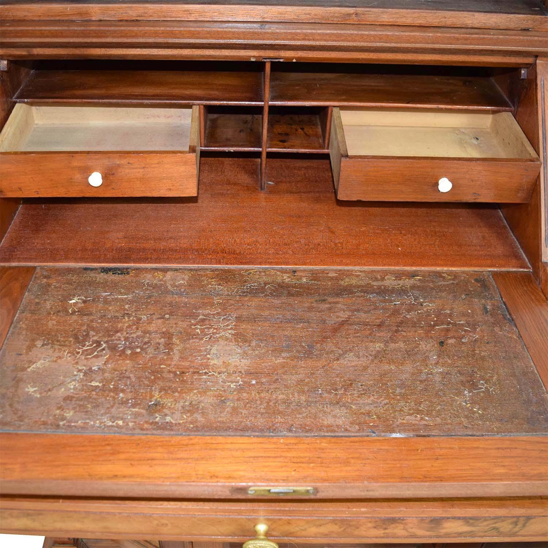 Antique Inlaid Pine Secretary / Storage