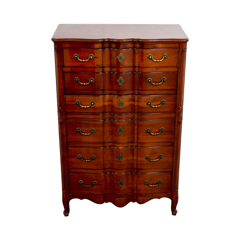 buy John Widdicomb Co Brown Six-Drawer Dresser John Widdicomb Co Dressers