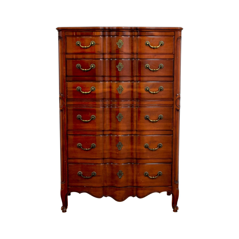 buy John Widdicomb Co Brown Six-Drawer Dresser John Widdicomb Co Storage