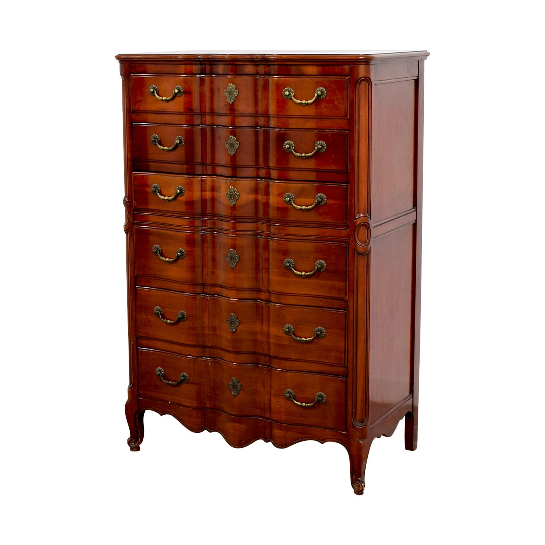 John Widdicomb Co John Widdicomb Co Brown Six-Drawer Dresser for sale