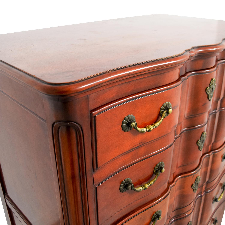 John Widdicomb Co John Widdicomb Co Brown Six-Drawer Dresser discount