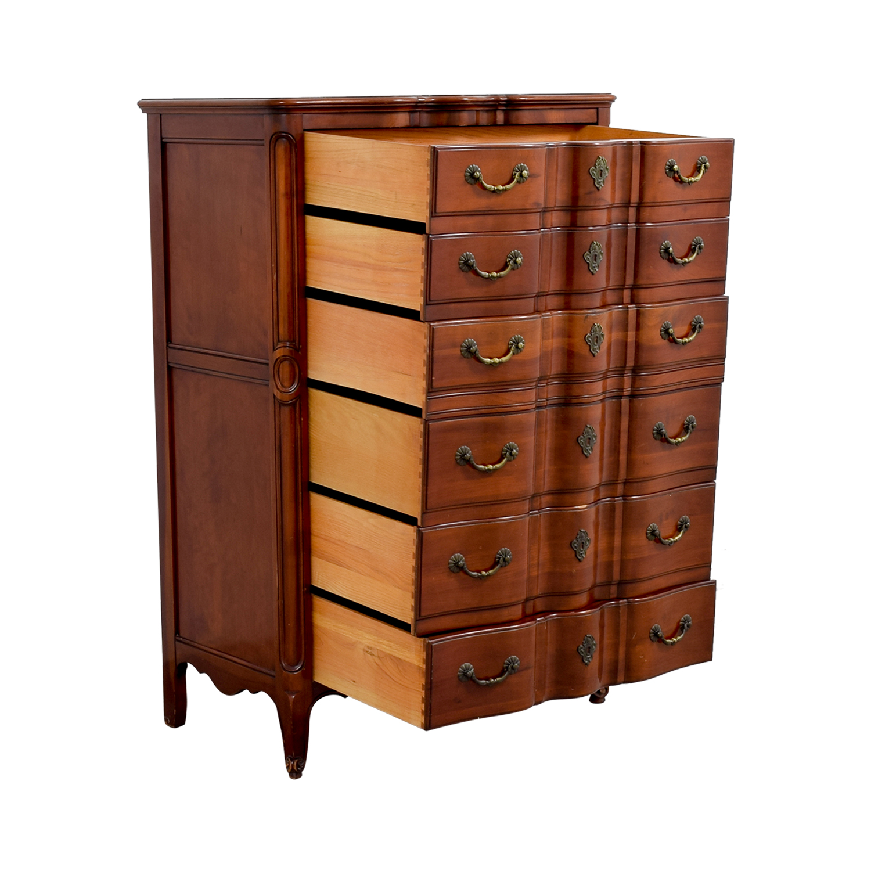 John Widdicomb Co John Widdicomb Co Brown Six-Drawer Dresser Storage