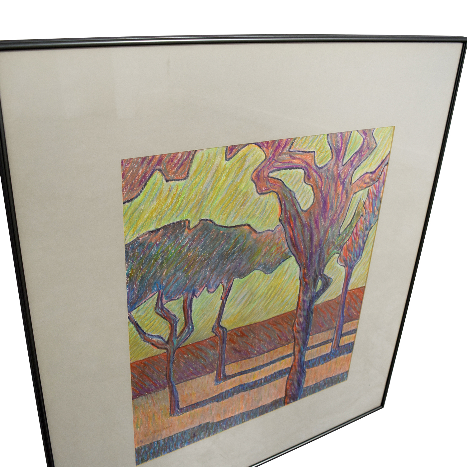 Framed Tree Drawing Wall Art coupon