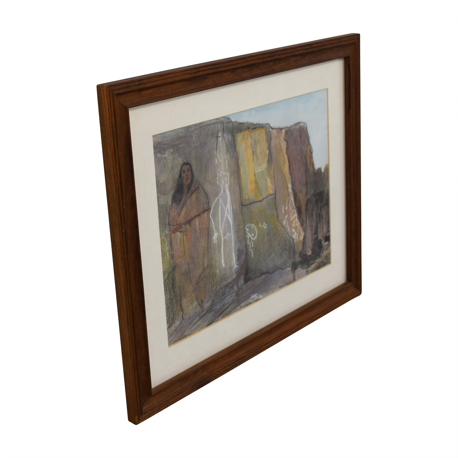 Framed Stone Wall Painting sale