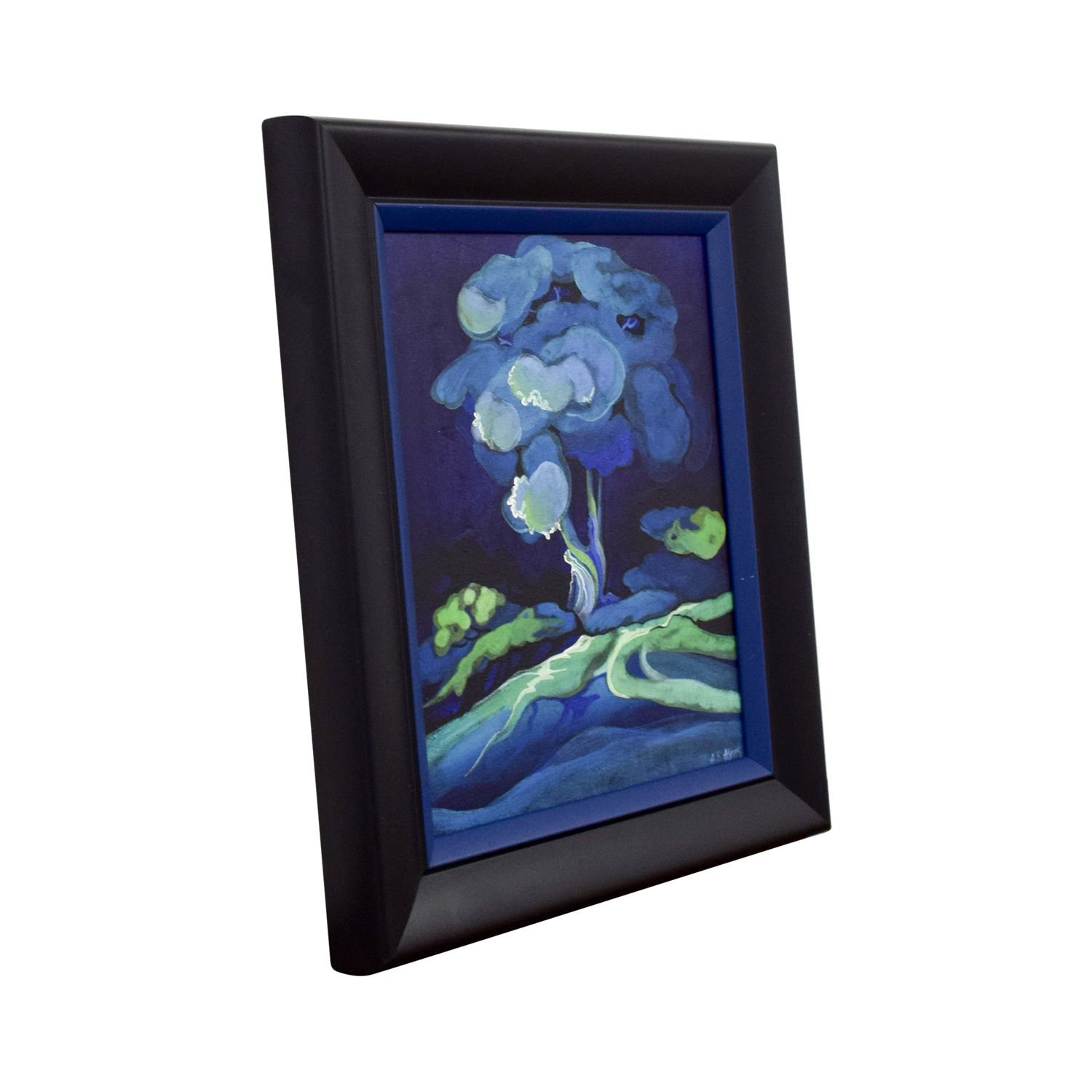 shop Framed Small Blue Flower Painting