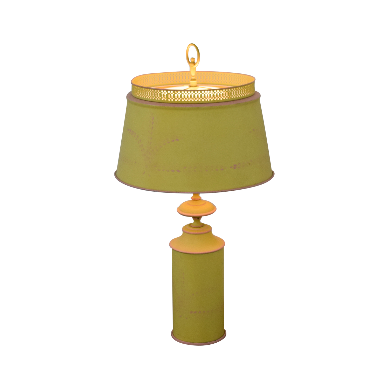 shop Small Green Yellow Table Lamp Decor