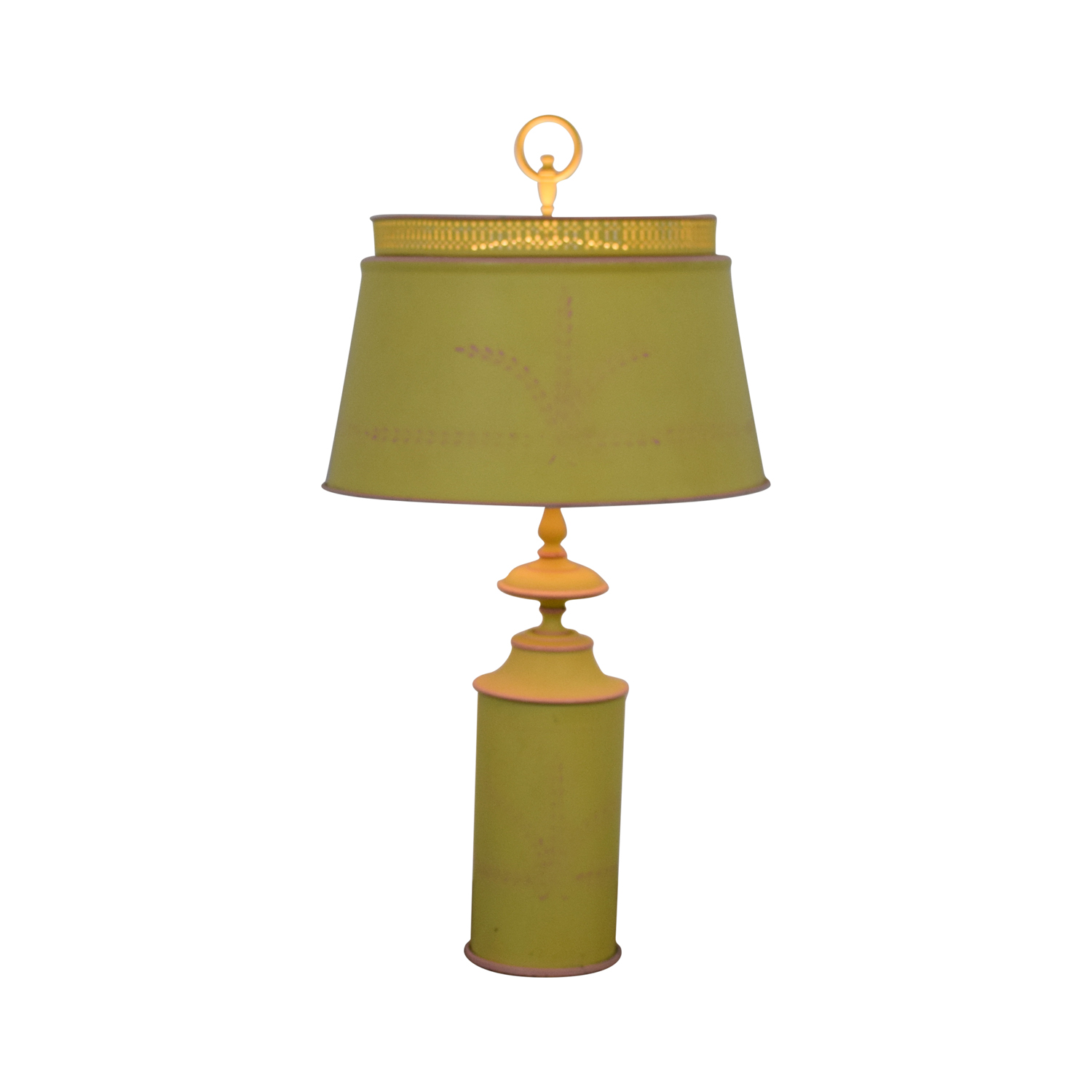 Small Green Yellow Table Lamp