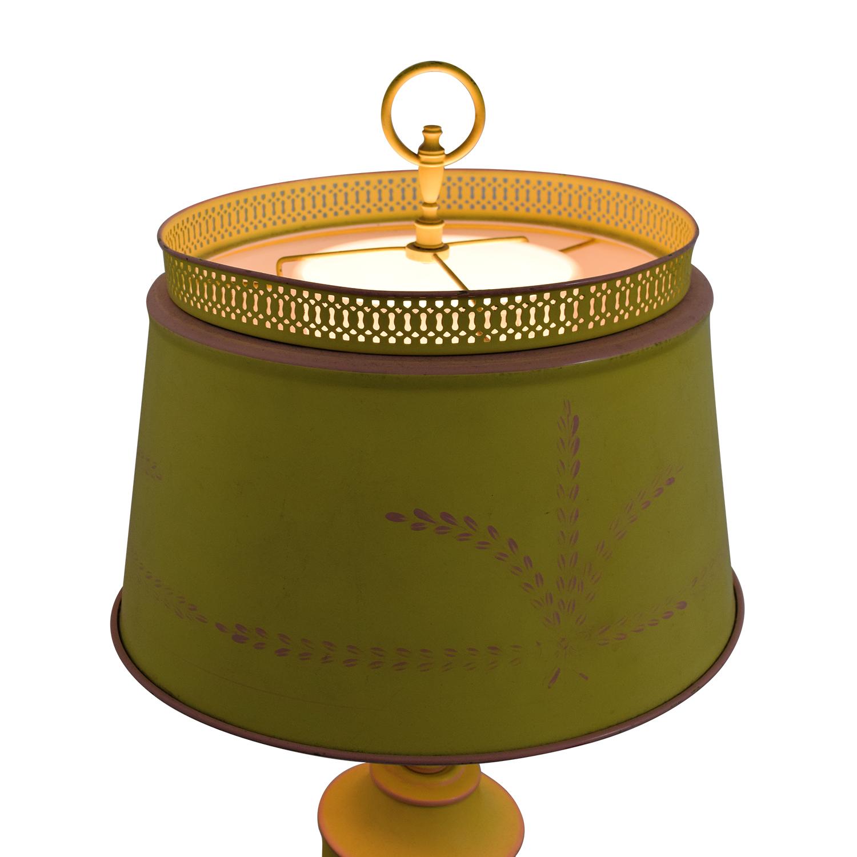 Small Green Yellow Table Lamp Decor