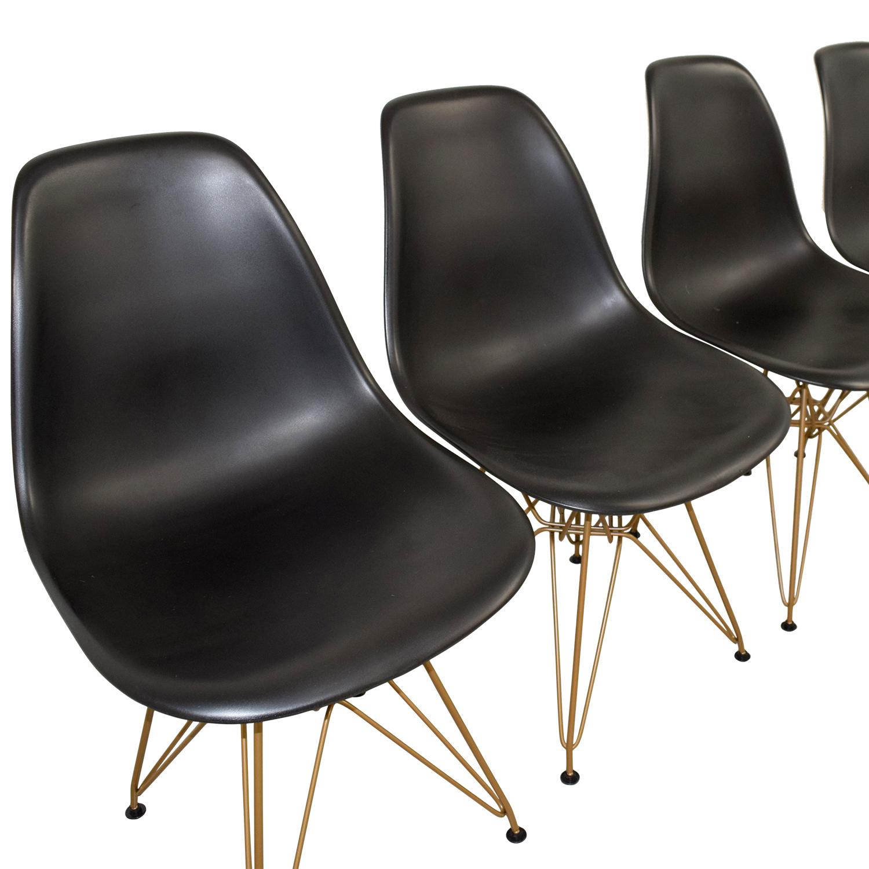 Junia Black Side Chairs used