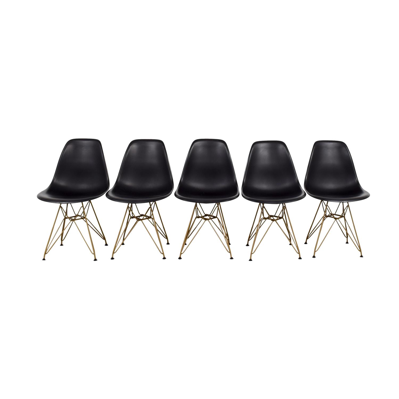 Junia Black Side Chairs / Chairs