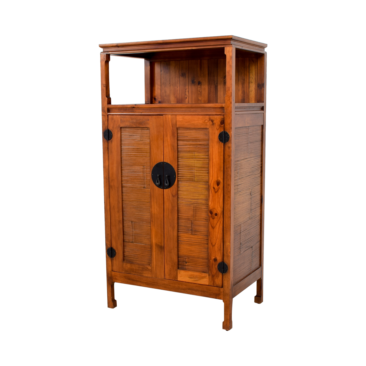 Off Pier Imports Asian Armoire Entertainment Cabinet Storage