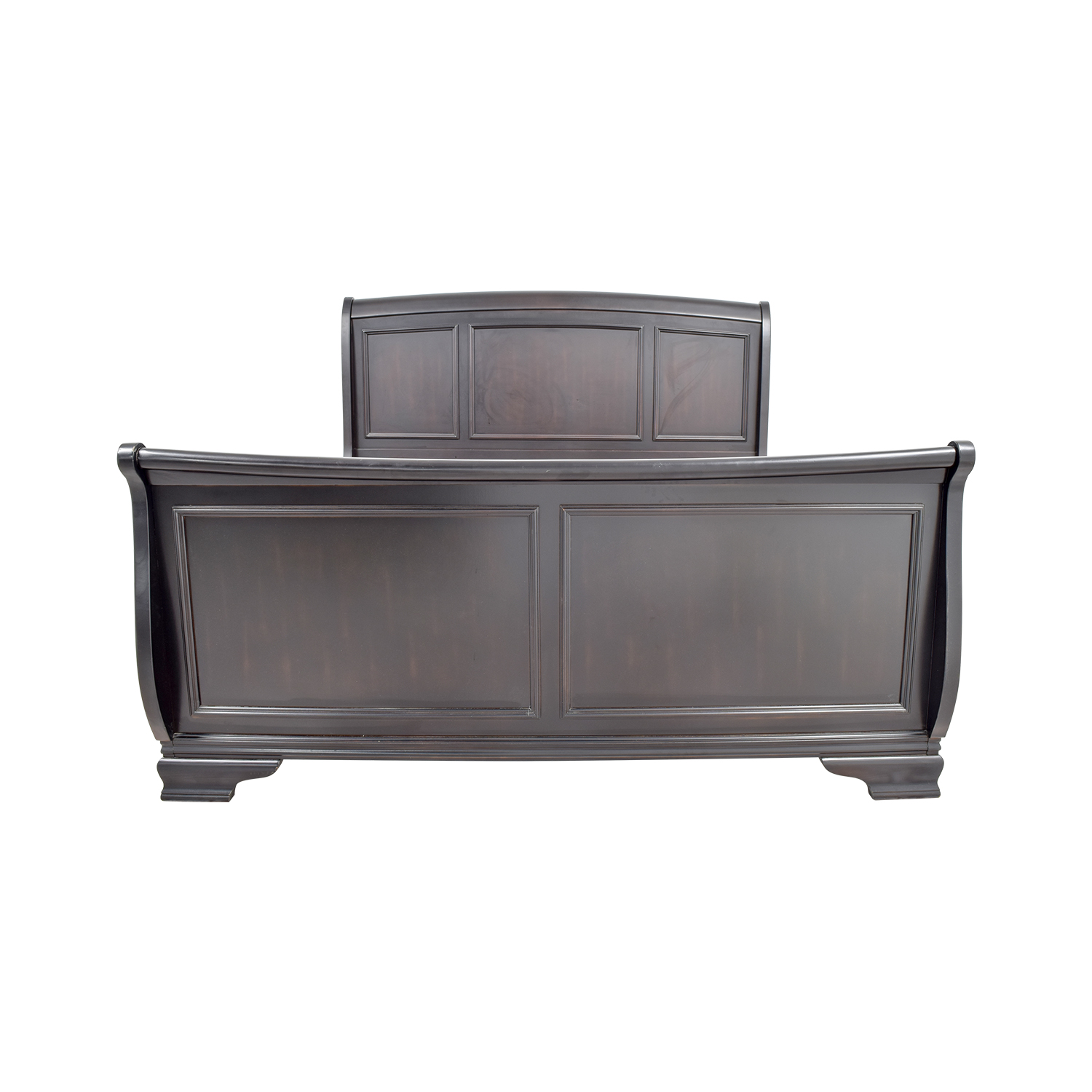 Raymour and Flanigan King Sleigh Bed / Bed Frames