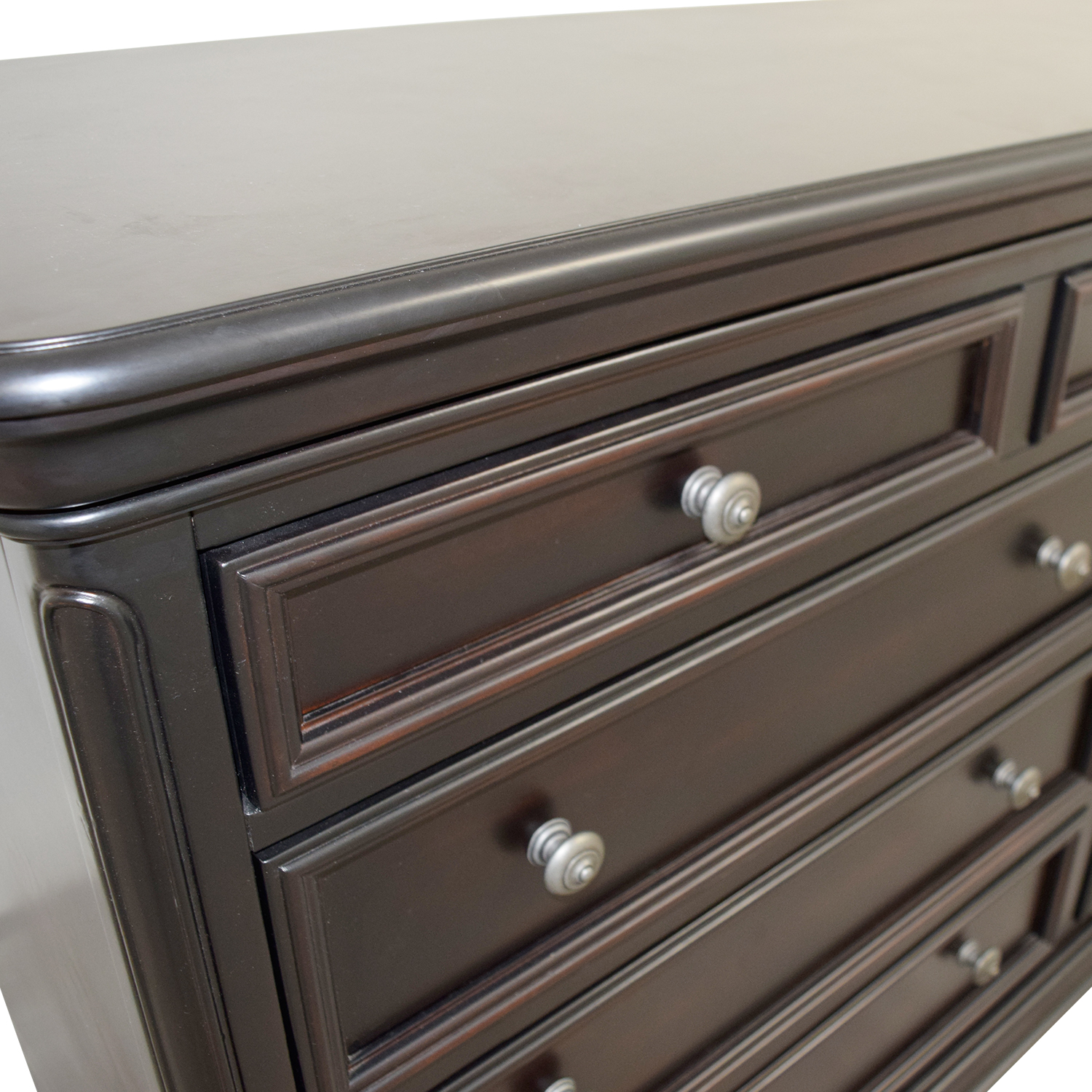 Raymour & Flanigan Raymour & Flanigan Nine-Drawer Dresser Mahogany