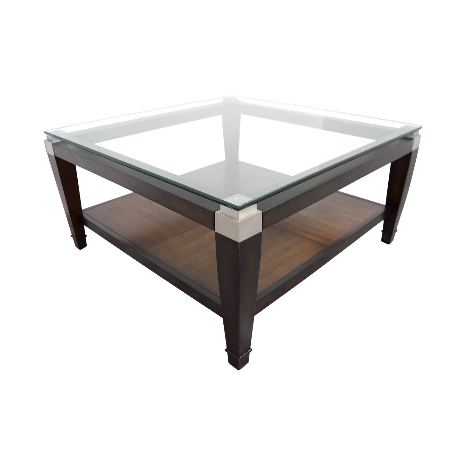 buy Raymour and Flanigan Raymour & Flanigan Wood and Glass Coffee Table online
