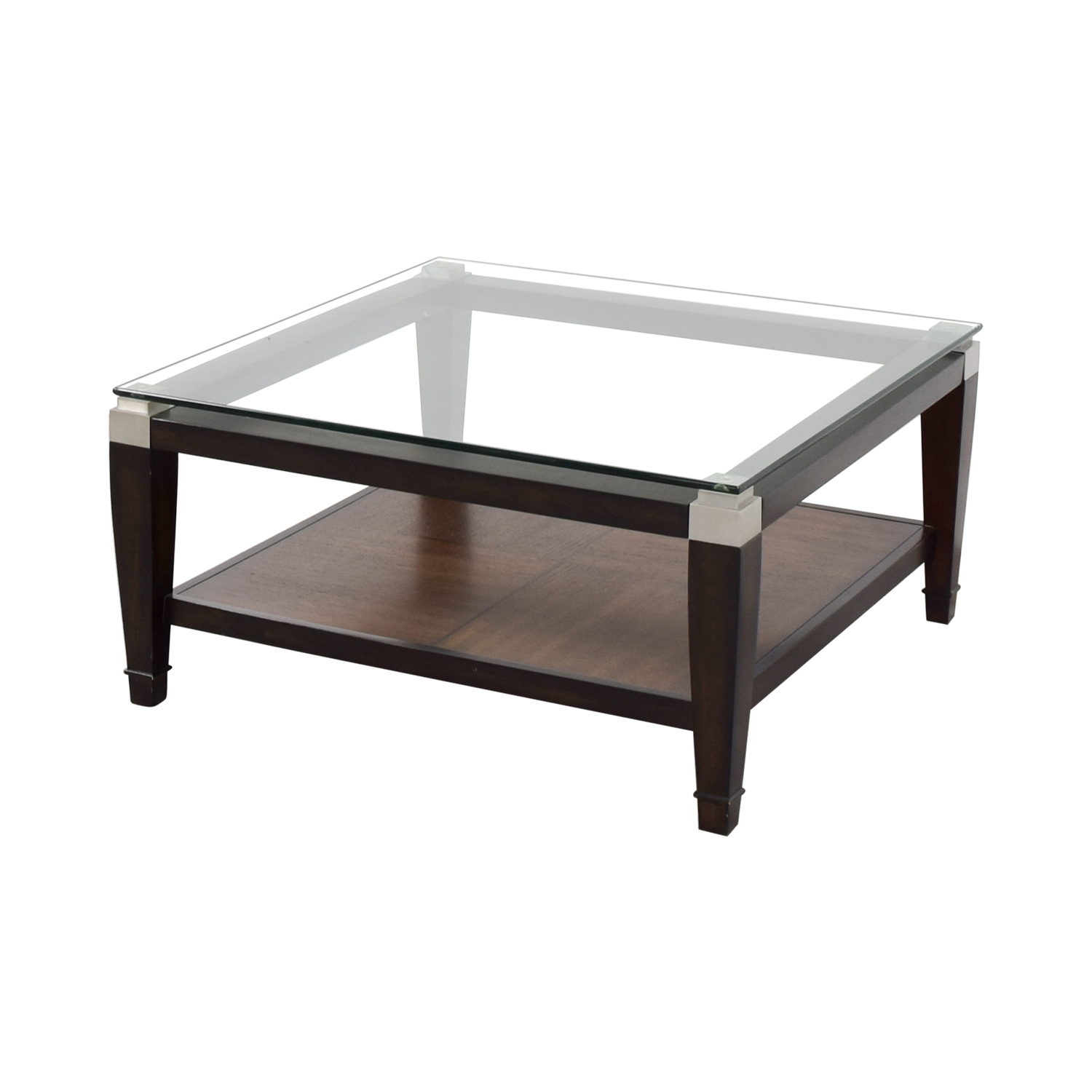 Raymour and Flanigan Raymour & Flanigan Wood and Glass Coffee Table Tables