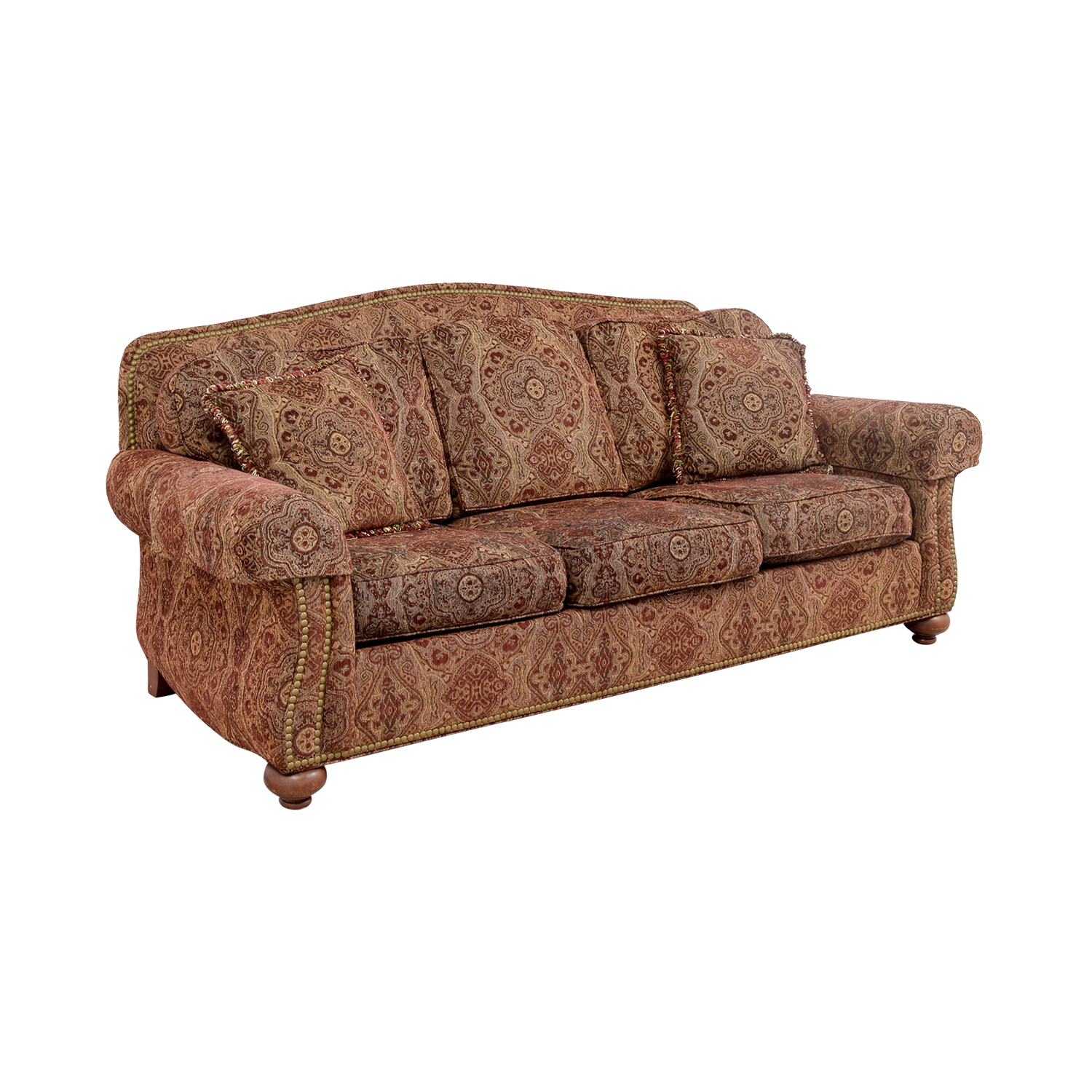 Ethan Allen Whitney Paisley Nailhead Couch / Classic Sofas