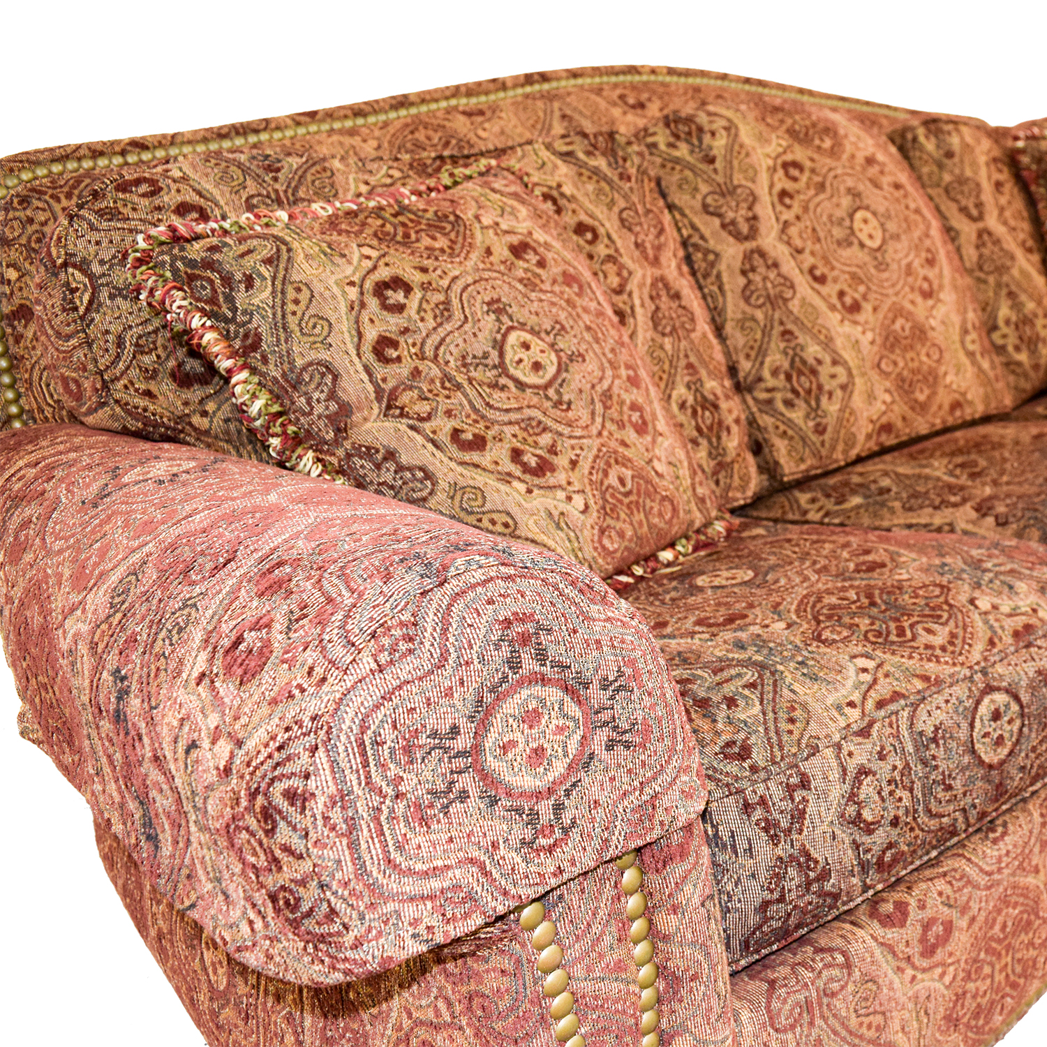 Ethan Allen Ethan Allen Whitney Paisley Nailhead Couch coupon